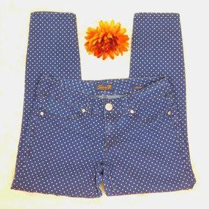 Seven7 Jeans Skinny Jegging Polka Dot Size 10 EUC